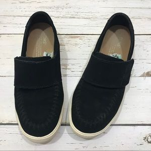 Toms Black Suede Velcro Fashion Sneakers 8